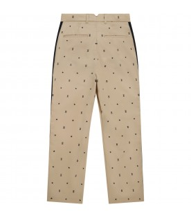 Beige trouser for kids with stars