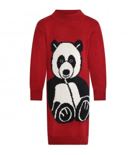 Red dressfor kids with panda