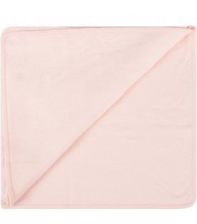 Pink blanket with logo for baby girl