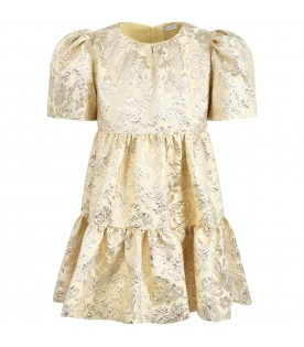 Gold dress for girl