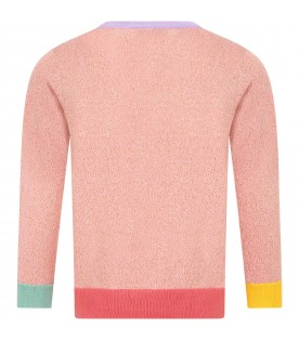 Pink sweater for girl with hourse