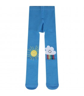 Light blue tights for babygirl