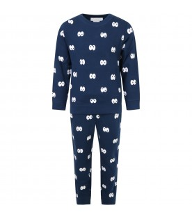Blue tracksuit for kids with eyes
