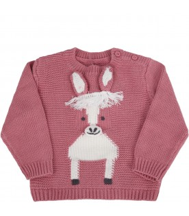Pink sweater for babygirl