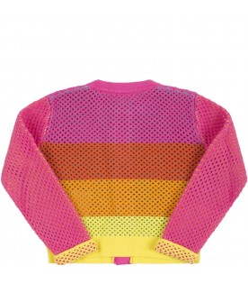 Multicolor cardigan for babygirl with palms