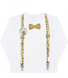 White T-shirt for babyboy wiwth bow-tie