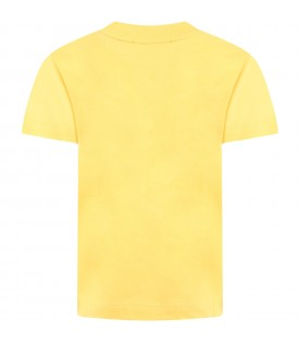 Yellow dress for kids with logo