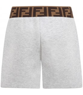 Gray shorts for girl with double FF