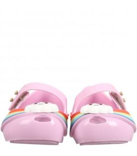 Lilac ballerina flats for girl with cloud