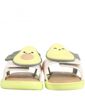 Multicolor sandals for kids with avocado