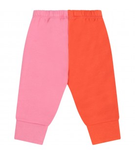 Multicolor sweatpants for babygirl with hearts