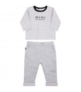 Gray set for babykids with logo