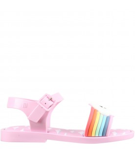 Lilac sandals for girl with cloud