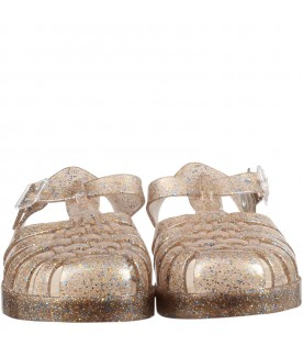 Beige sandals for girl