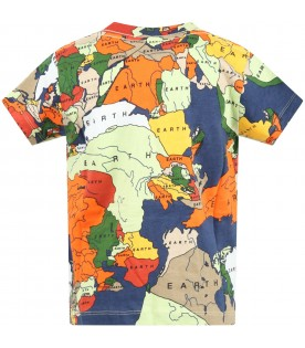 Multicolor ''Road'' t-shirt for boy