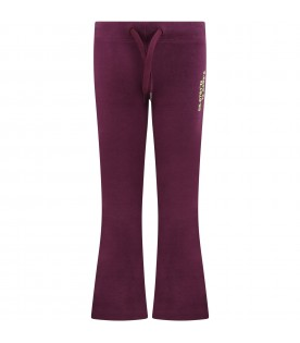 Purple ''Alfreda'' sweatpants for girl