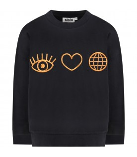 Black ''Maxi'' sweatshirt for kids