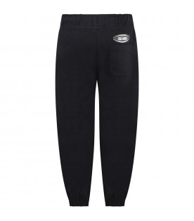 Black ''Am'' sweatpants for kids with logo