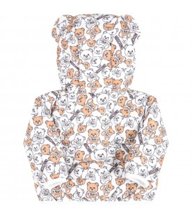 White jacket for babykids with teddy Bears