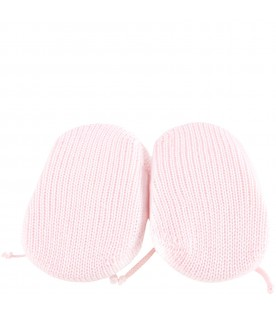 Pink bootee for babygirl