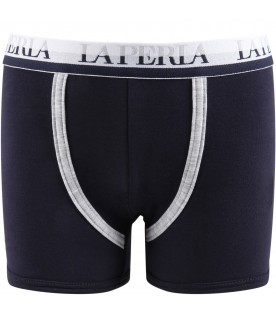 Blue boxer for boy with logo