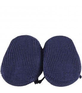 Blue bootee for babyboy