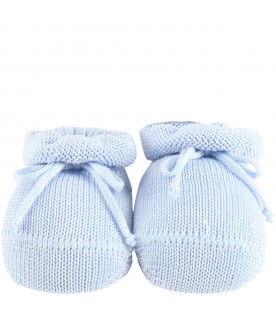 Light blue bootee for babyboy