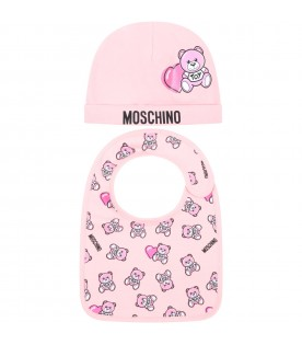 Pink set for babygirl with teddy bears