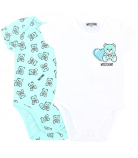 Multicolor set for babykids with teddy bear