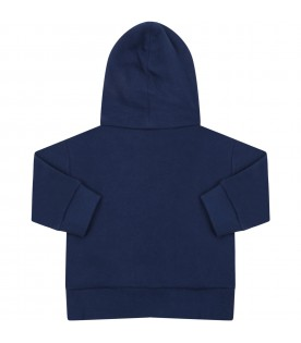 Blue sweatshirt for babykids with logos