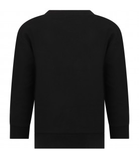 Black sweatshirt for kids with logo