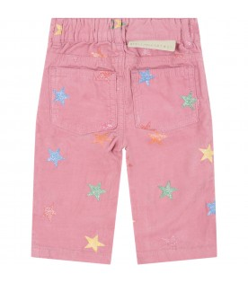 Pink jeans for babygirl with stars
