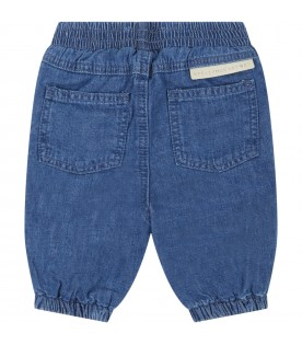Blue jeans for babykids with sun