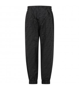 Black pants for kids with double FF