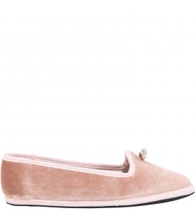 Pink loafers for girl