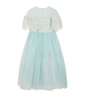 Tiffany dress for girl with iconic logo