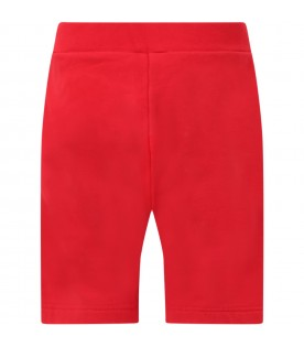 Red short for boy with logo