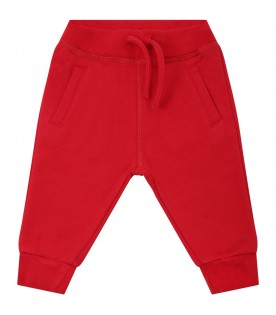 Red sweatpants for babyboy