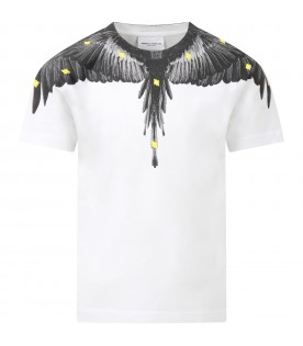 White t-shirt for boy with wings