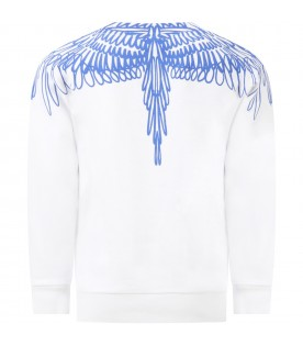 White sweatshirt for kids with iconic wings