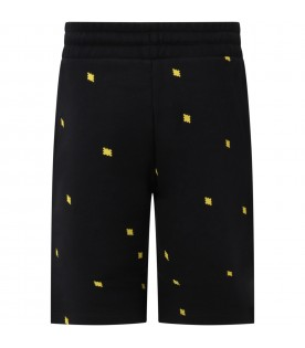 Black short for boy with cross