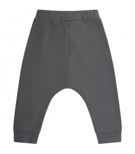 Grey sweatpants for babyboy with cross