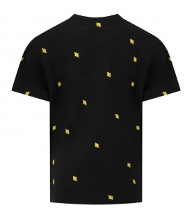 Black t-shirt for boy with iconic cross