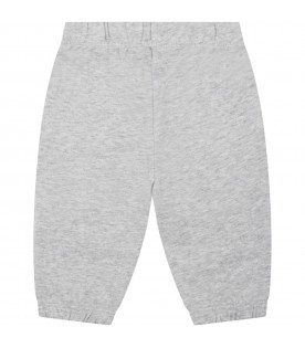 Grey sweatpants for babykids with leopards