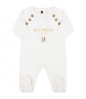 Ivory suit for babykids with logo