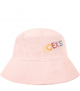 Pink sun hat for kids