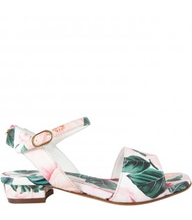 White sandals for girl