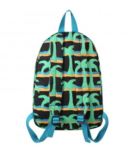 Black backpack for kids with palms