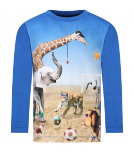 Blue ''Reif'' t-shirt fro boy with animals