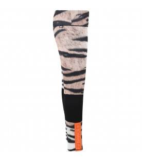 Multicolor ''Oympia'' leggings for girl